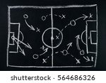 soccer play tactics strategy... | Shutterstock . vector #564686326