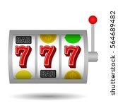 slot machine  icon. vector...   Shutterstock .eps vector #564689482