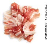 sliced prosciutto or parma ham...   Shutterstock . vector #564690562