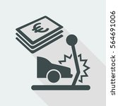 car insurance payment   euro  ... | Shutterstock .eps vector #564691006
