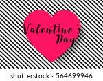 valentine s day background.... | Shutterstock .eps vector #564699946