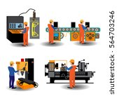 the process of working people... | Shutterstock .eps vector #564703246