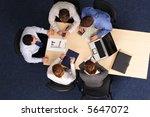 five business people meeting  ... | Shutterstock . vector #5647072