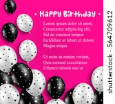 Birthday Card With Black And...