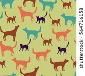 seamless pattern with... | Shutterstock .eps vector #564716158