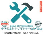 soft blue hammer and wrench... | Shutterstock .eps vector #564721066