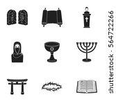 religion set icons in black... | Shutterstock .eps vector #564722266