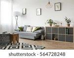 bright living room interior... | Shutterstock . vector #564728248