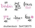 romantic calligraphy...   Shutterstock . vector #564728575