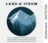 travel banner design with... | Shutterstock .eps vector #564751966