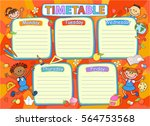 school timetable schedule ... | Shutterstock .eps vector #564753568