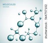 dna and molecule. vector...   Shutterstock .eps vector #564757102