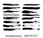 a collection of natural brush... | Shutterstock .eps vector #56475727