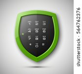 shield with electronic... | Shutterstock .eps vector #564762376