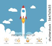 flat design of  rocket launch....   Shutterstock .eps vector #564765655