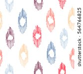 seamless pattern with ikat... | Shutterstock .eps vector #564766825