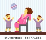 a flat vector image of a...   Shutterstock .eps vector #564771856