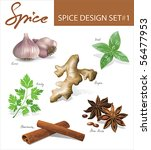 spice images design set 1.... | Shutterstock .eps vector #56477953