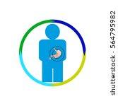 vector illustration. the emblem ... | Shutterstock .eps vector #564795982