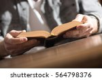 man reading a book at home ... | Shutterstock . vector #564798376