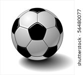 vector soccer ball isolated on... | Shutterstock .eps vector #56480077