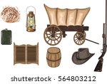 high detailed western icons  ... | Shutterstock .eps vector #564803212