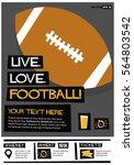 live. love. football.  flat... | Shutterstock .eps vector #564803542
