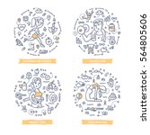 doodle vector concepts of... | Shutterstock .eps vector #564805606