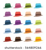 set of color classic hats | Shutterstock .eps vector #564809266