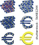 vector euro symbol | Shutterstock .eps vector #56481244