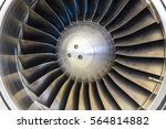 turbine blades of an airplane... | Shutterstock . vector #564814882