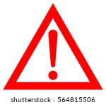 vector danger sign | Shutterstock .eps vector #564815506