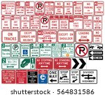 road signs in the united states.... | Shutterstock .eps vector #564831586
