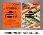 set auto repair business layout ... | Shutterstock .eps vector #564833236