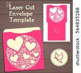 wedding invitation or greeting... | Shutterstock .eps vector #564835288