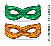 green and yellow mask for face... | Shutterstock .eps vector #564835906