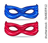 blue and red mask for face... | Shutterstock .eps vector #564835912