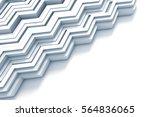 geometric zig zag pattern...   Shutterstock . vector #564836065