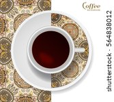 cup of coffee with colorful... | Shutterstock .eps vector #564838012