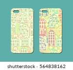 mobile phone case design. hand... | Shutterstock .eps vector #564838162