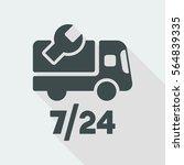 steady truck assistance center  ... | Shutterstock .eps vector #564839335