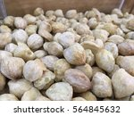 Small photo of Close up of candlenuts. Candlenut or Aleurites moluccanus is a very healthy food known to be an organic supplement fpr various health purposes.
