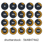 digital countdown timer | Shutterstock .eps vector #564847462