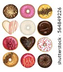donuts  vector illustration  | Shutterstock .eps vector #564849226