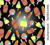 pattern of ice creams.  | Shutterstock .eps vector #564851446