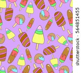 pattern of ice creams.  | Shutterstock .eps vector #564851455