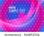 blue abstract template for card ...