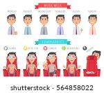 man during work week. male face ... | Shutterstock . vector #564858022