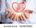 care treatment and support of... | Shutterstock . vector #564859882