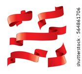 set of red vector ribbons | Shutterstock .eps vector #564861706